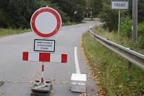 V Třebíči-Borovině je zavřená silnice.