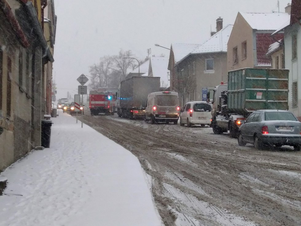 Sněhová nadílka na Vysočině.