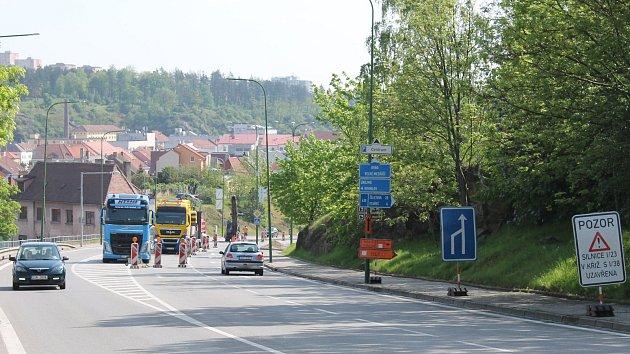 Dopravní omezení v Třebíči.