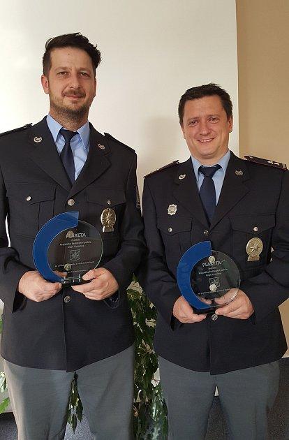 Vyznamenaní policisté.
