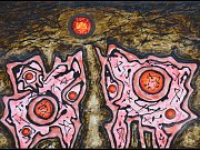 Z výstavy Milana Nestrojila v Galerii Chodba Katolického gymnázia v Třebíč.