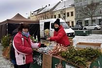 Vánoční trhy na Karlově náměstí v Třebíči.