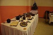 Vánoční výstava hotelové školy.