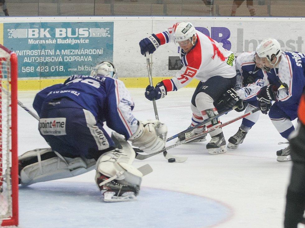 Přípravný zápas mezi spřátelenými kluby SK Horácká Slavia Třebíč a HC Kometa Brno.