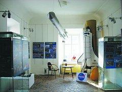 Výstava o kosmonautice.