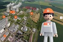 Igráček virtuálně provází Jadernou elektrárnou Dukovany
