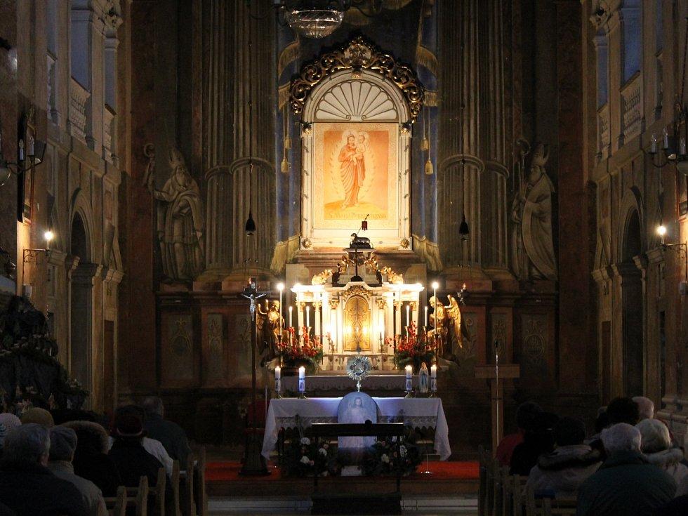 Kostel v Přibyslavicích.