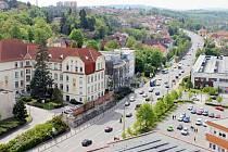 Silnice první třídy v Třebíči.