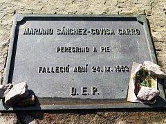 Pomníček Mariana Sánchez-Covisa Carro nedaleko Brey.