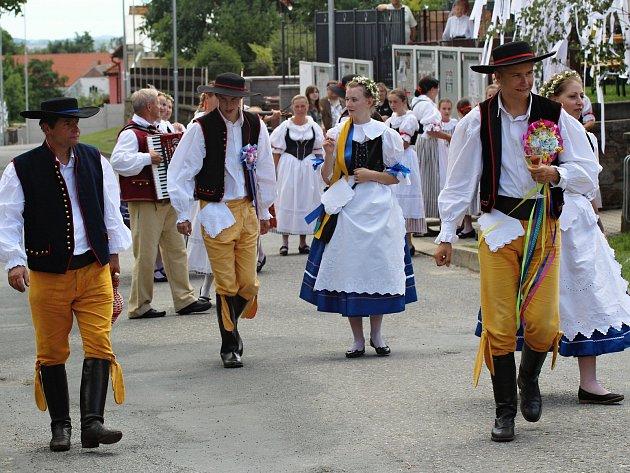 Krojované hody v Martínkově.