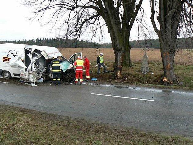 K vážné dopravní nehodě došlo ve středu před 14. hodinou u Třebenic na Třebíčsku.