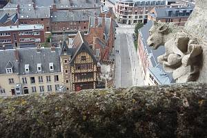 Amiens, město, kde žil spisovatel Jules Verne.