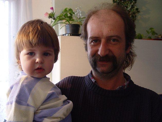 M. Hlavatý s dcerou Šárkou.