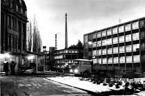 Továrna BOPO v Třebíči-Borovině na konci osmdesátých let minulého století.