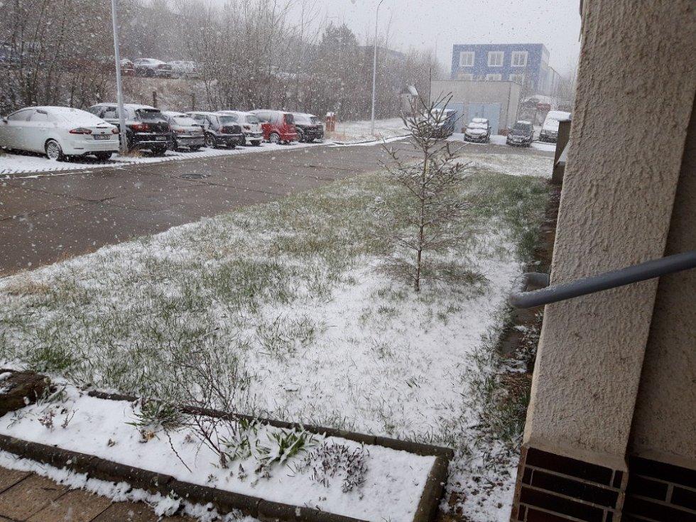 Zasněžená Vysočina, 31. března 2020.