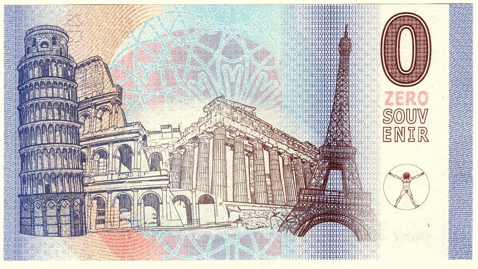 Na zadní jsou pak vyobrazené významné evropské památky.