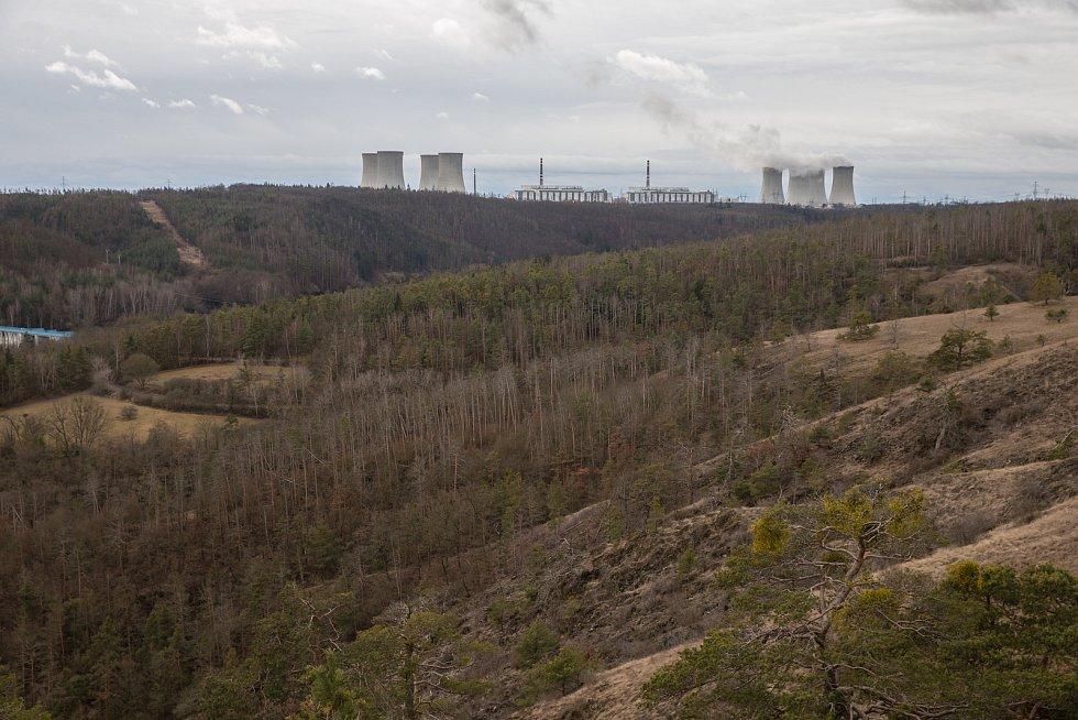 Jaderné elektrárny Dukovany.