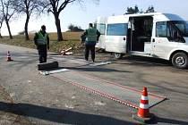 Příprava na měření kamionů.