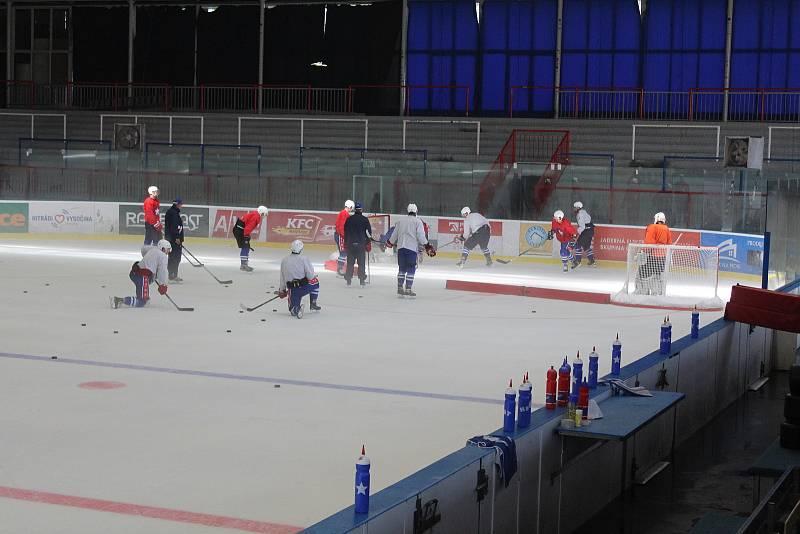 Třebíčští hokejisté při přípravě na novou sezonu.