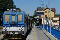 Vlakové nádraží v Třebíči.