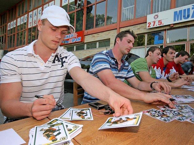 Autogramiáda hokejistů