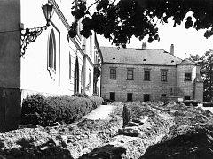 Do třebíčského zámku se v roce 1994 zaváděl plyn.