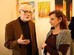 Na výstavě v Hrotovicích malíř Jiří A. Havlín představil práce z nedávného období.