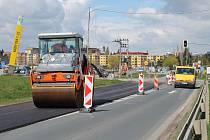 Oprava Znojemské ulice v Třebíči.