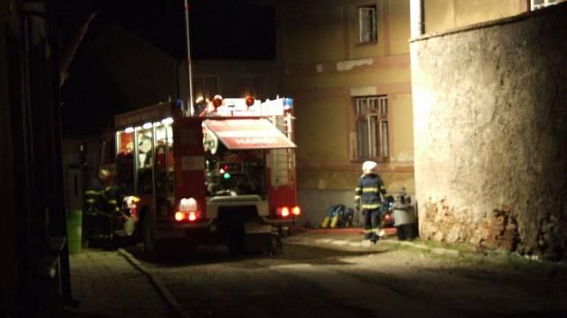 Hořelo v centru Jaroměřic.