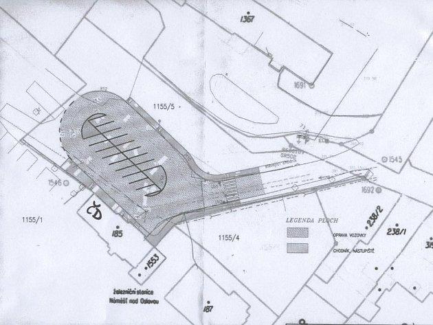 Plán rekonstrukce náměšťského autobusového nádraží