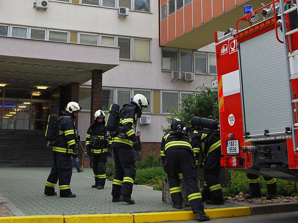 Cvičný požární poplach v Jaderné elektrárně Dukovany.