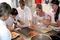Studenti Hotelové školy na stáži v Německu. Seminář o mořských plodech.