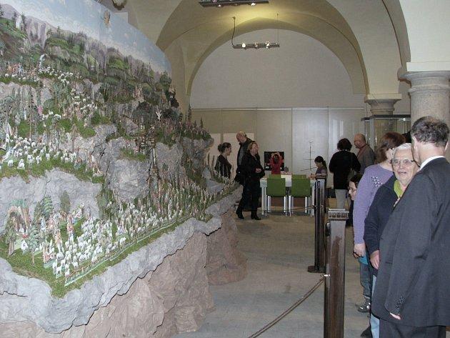 Výstava betlémů v třebíčském muzeu.