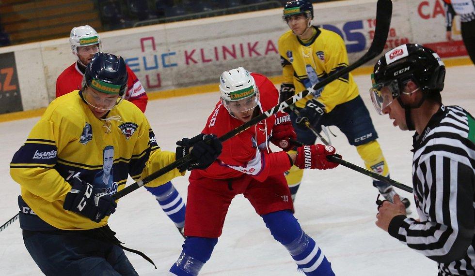 Hokejový zápas Ústí a Třebíč.