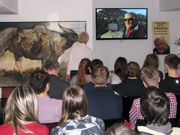 Snímek Frantův návrat na Vysočinu byl poprvé k vidění v rámci dne otevřených dveří v Galerii Franta. Akce se konala u příležitosti umělcových pětaosmdesátých narozenin.