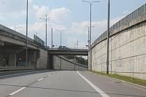 Most v Třebíči u nemocnice.