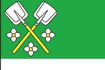 Bochovice symbolizují dvě lopaty typické pro hledače ametystů