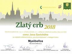 V kategorii nejlepší webová stránka obce se Myslibořice umístily na třetím místě v zemi. Současně získaly i zvláštní cenu Jana Savického za nejlépe zvládnuté povinné informace.