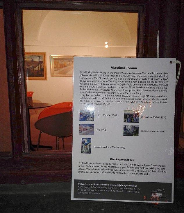 Tento týden vystavuje muzejní výdejní okýnko obrazy od třebíčského rodáka Vlastimila Tomana.
