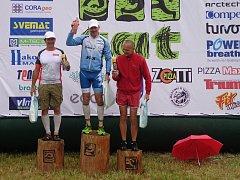Mejzlíkovi (vlevo) slovenská trať sedla, když vystoupil na druhý nejvyšší stupínek.