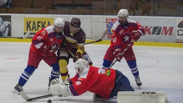 Nájezdy se třebíčským hokejistům nepovedly. S Jihlavou prohráli 2:3