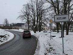 Kozlany, obec s asi 140 obyvateli. Nachází se poblíž Dalešické přehrady, nedaleko je velká chatová osada.