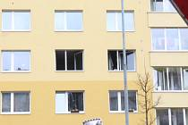 V Třebíči hořelo v ulici Marie Majerové na sídlišti Hájek.