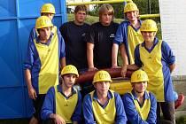 Družstvo starších žáků, které vyhrálo v kraji v roce 2008.