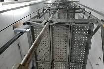 Rekonstrukce výtahů v budově U v třebíčské nemocnici.
