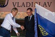 Návštěva prezidenta republiky Miloše Zemana ve Vladislavi na Třebíčsku.
