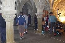 Filmaři v třebíčské bazilice