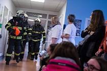Cvičení Integrovaného záchranného systému v třebíčské nemocnici.