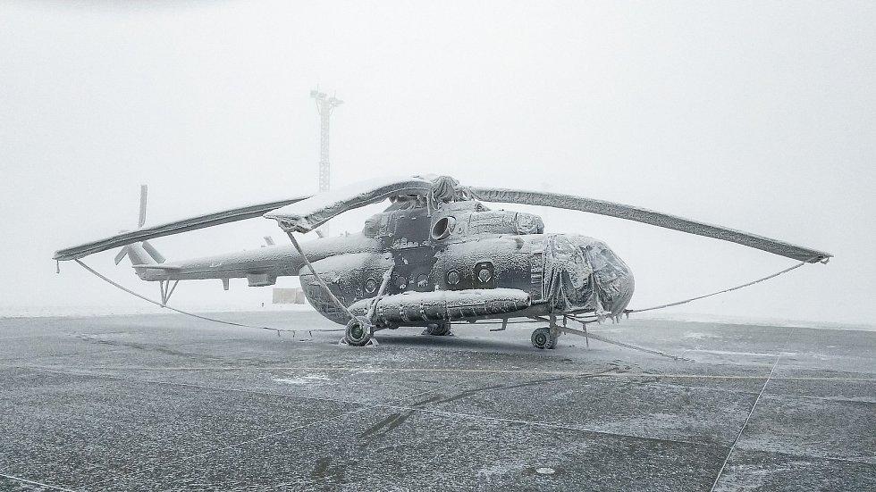Vrtulník Mi-171Š ve speciální ochranné plachtě.