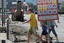 Revitalizace Komenského náměstí v Třebíči.